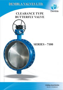 Clearance Type Butterfly Valve
