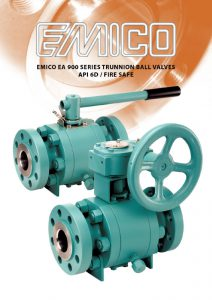 Emico EA 900 Series Trunnion Ball Valves API 6D Fire-Safe