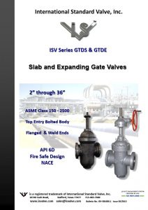 Slab and Expanding Gate Valves