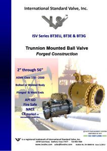 Trunnion Mounted Ball Valve Forged Construction